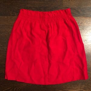 j. Crew red skirt size 2